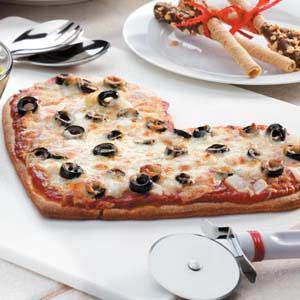 Valentine Pizza Recipe