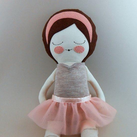 Anna cloth ballerina doll rag doll - piggyhatespanda