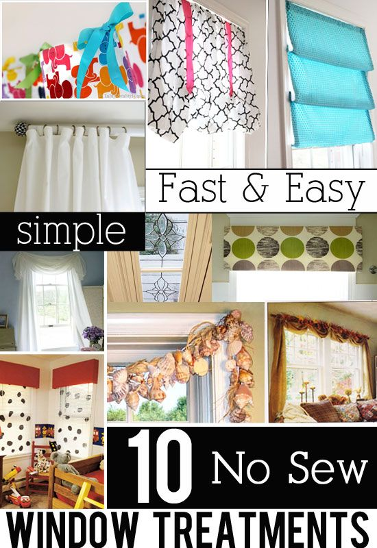 10 No Sew and Easy to make Window Treatment Ideas