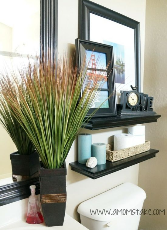 Small Bathroom Design Ideas - Tips and a before & after look at decorating a small bathroom space. Budget DIY ideas to make your bathroom look fabulous!