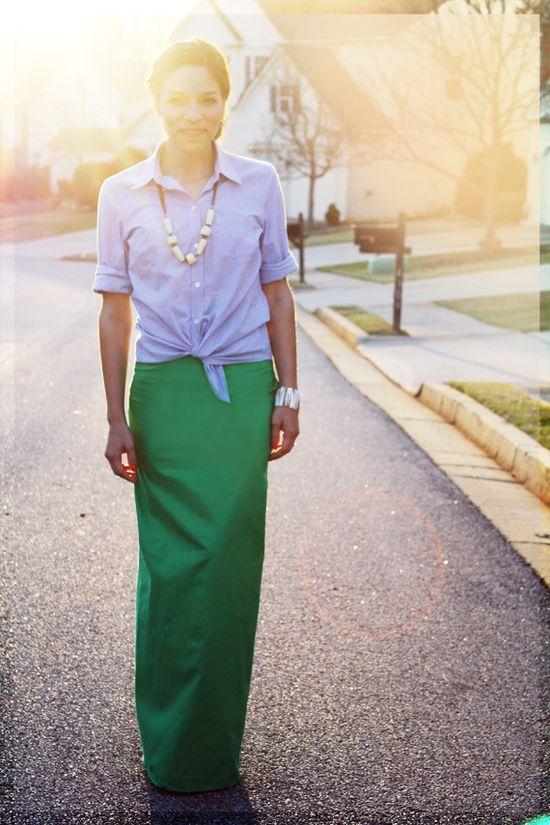 DIY Jade Maxi Skirt