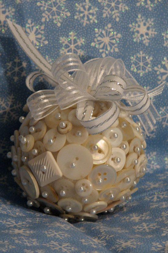 Pearl Button ornament