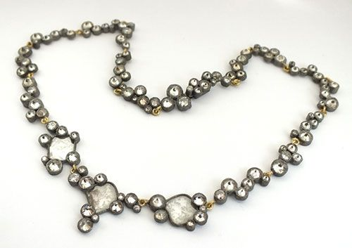 Todd Pownell  Necklace: Glacier Necklace 2013  14k, 18k gold, approximately 36tcw