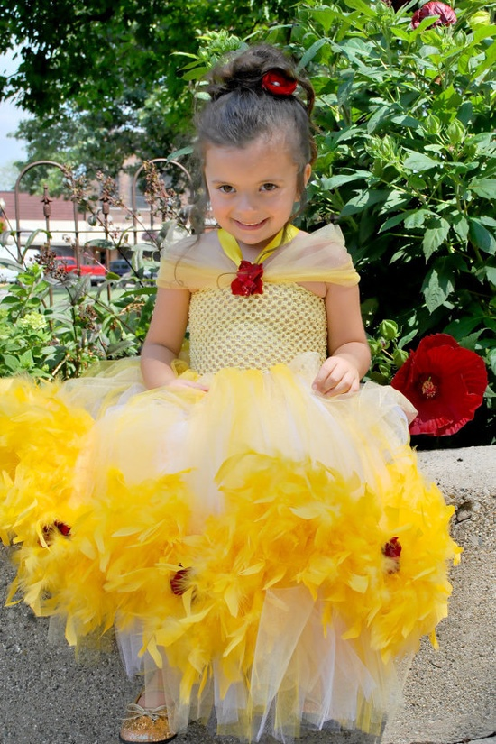 Princess Belle Costume/Tutu Dress by TinyToesRibbonsnBows on Etsy, $59.99