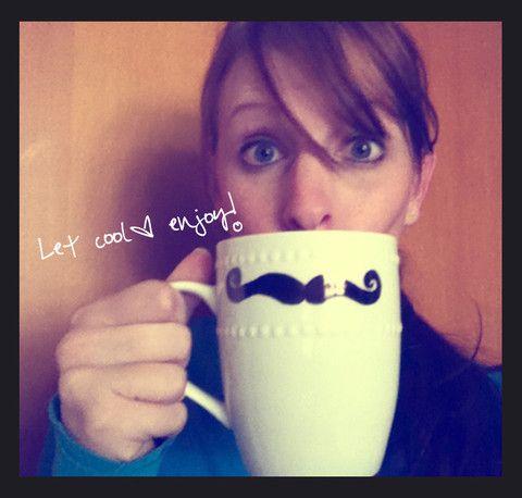 Easy DIY Gift: Mustache Mugs + Plates