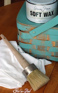 Annie Sloan Paint Tips  love this basket...