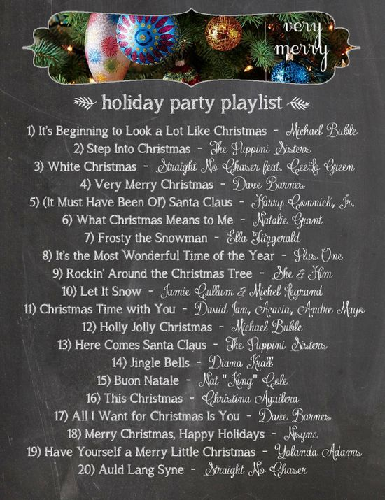 Very Merry Holiday Party Playlist