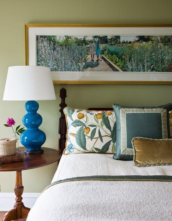 Jonathan Legate blue and white bedroom design portfolio