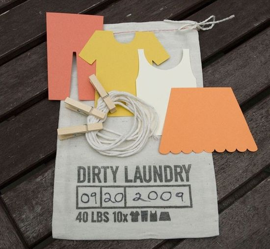 bridal shower game Dirty Laundry
