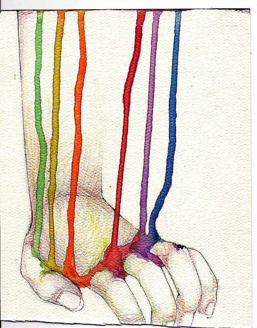rainbow hand. LOVE the concept... still pondering the levels of meaning