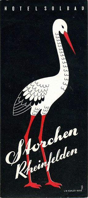 Hotel Solbad,  Luggage Label by L.M. Kohler
