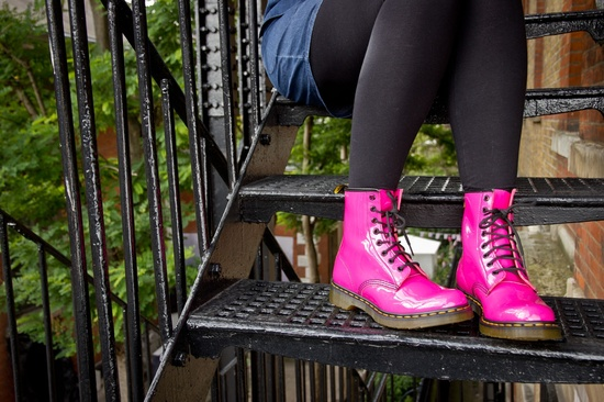 Dr. Martens '1460 W' Boot in Hot Pink! #Nordstrom #Shoes