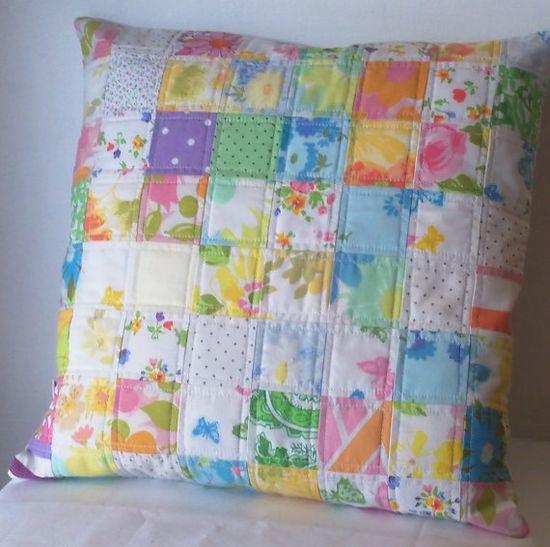 Vintage sheet pillow