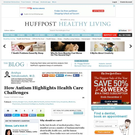 Blog post - How Autism Highlights Health Care Challenges