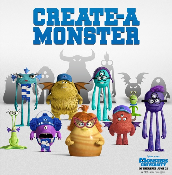 Picture yourself at Monsters University with the Create-A-Monster App: di.sn/s77
