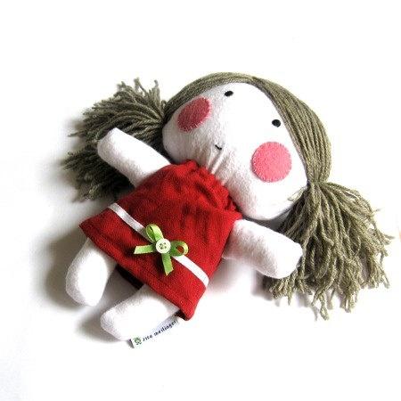 Rag doll toy handmade plushie