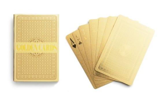 kate spade:  gold playing cards