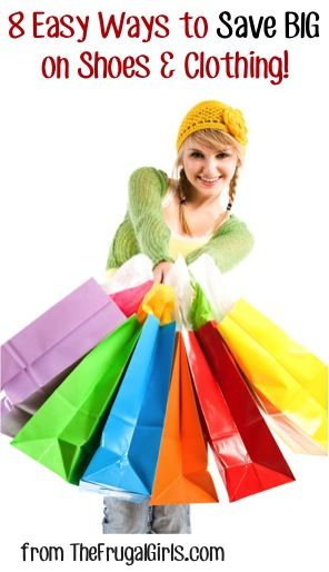 8 Easy Ways to Save BIG on Shoes and Clothing! ~ from TheFrugalGirls.com #fashion