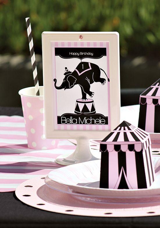 Girly Circus Birthday Party Ideas
