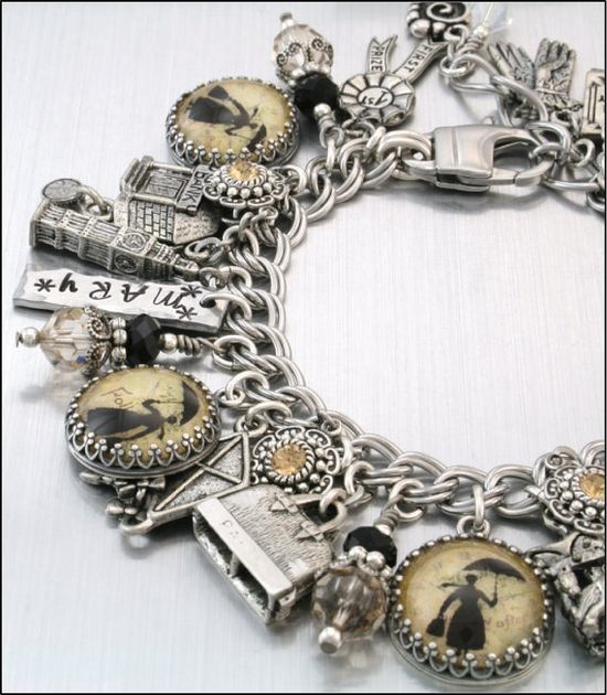 Silver Charm Bracelet Inspired Mary Poppins by BlackberryDesigns, $87.00