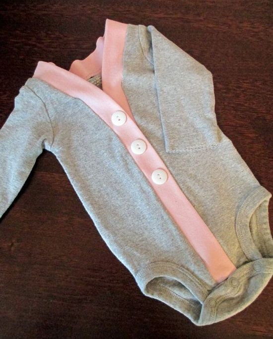 Baby Cardigan Onesie, Gray and Pink Infant Cardigan, Baby Girl Bodysuit, Child Cardigan, Long Sleeve Cardigan, Baby Shower Gift on Etsy, $24.00