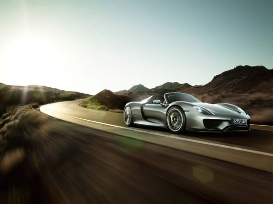 #Porsche #918Spyder: Thanks in part to recuperation, e-boost and the electric all-wheel drive system, electricity will be your new guarantee of driving pleasure. Learn more: link.porsche.com/918 Combined fuel consumption in accordance with EU 5: 3.3-3.0 l/100 km, CO2 emissions 79-70 g/km. Electricity consumption 12.5-13.0 kWh/100 km.
