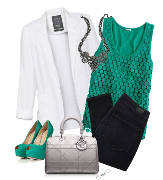 """Metallics and Teal"" by jill-hammel on Polyvore"
