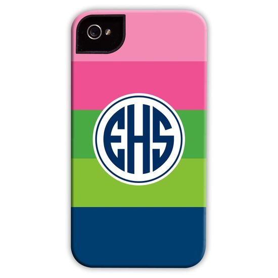 Boatman Geller Personalized Cell Phone Case Bold Stripe Pink #laylagrayce