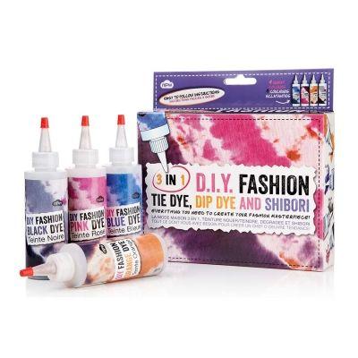 3 in 1 DIY Fashion Kit - Tie Dye, Dip Dye & Shibori