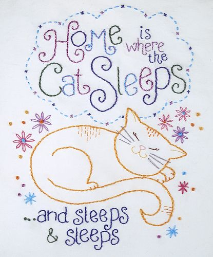 Home is where the cat sleeps... by ginamatarazzostuff,