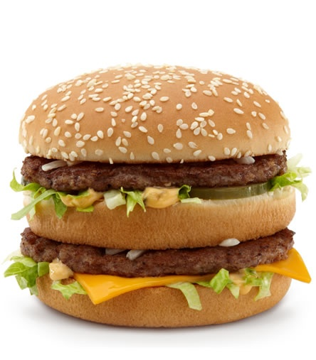 Two all beef patties, special sauce, lettuce, cheese, pickles,onions on a sesame seed bun!  *Remembered that ever since McDick's did those rap commercials with free downloads. Put it to music, I'll remember it!