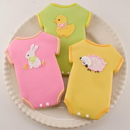 Adorable onesie sugar cookies!