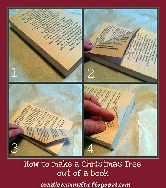 Christmas tree out of a book