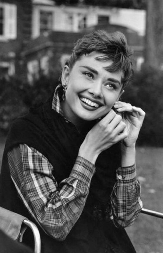 Audrey. Beautiful shot of her.  Great smile