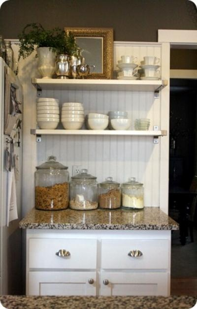 Open Shelf Kitchen {before and after}