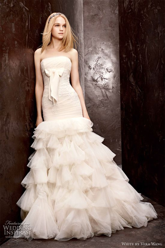White by Vera Wang Fall 2012 Wedding Dresses