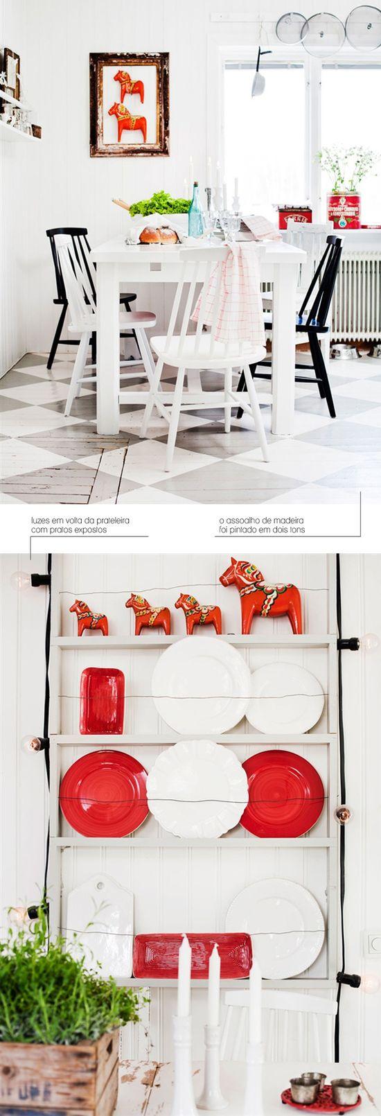 cozy kitchen + painted floor #decor #kitchen #cozinha