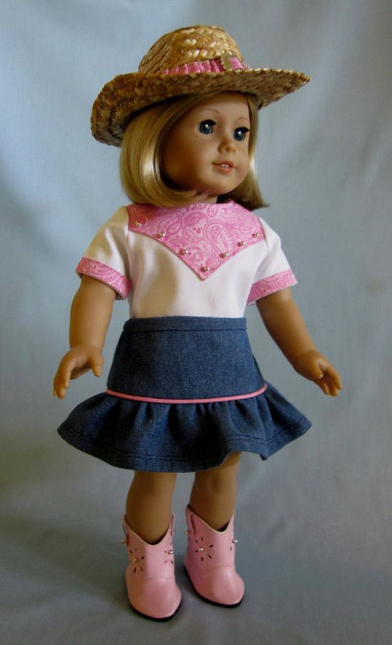 Idea-American Girl Doll Clothes   Cowgirl Outfit by SewMyGoodnessShop, $29.00