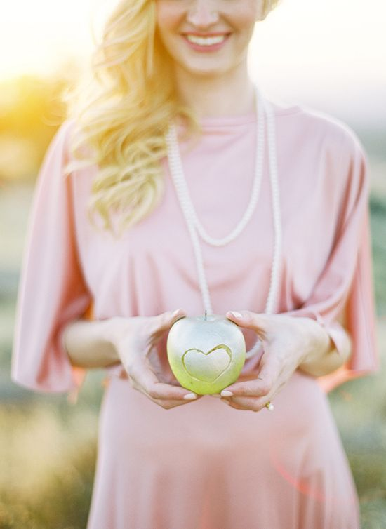 Jose Villa Photography  #apple #heart #green #pink #wedding #engagement
