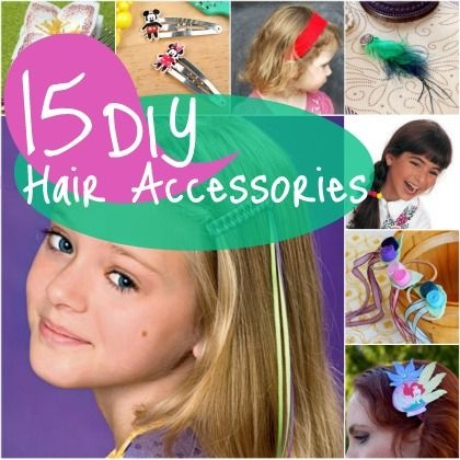 15 Easy DIY Hair Accessories, I like 7, 9, 10, 11, and 15;)