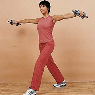 15 Minute Workout: Lunge with Shoulder Raise