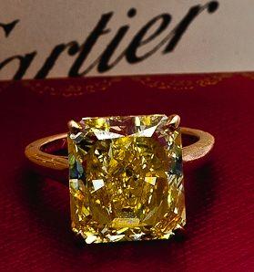 Cartier. Yellow diamond yes please