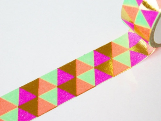 mt Washi Masking Tape - Metallic Triangles - Limited Edition.