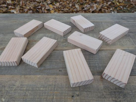 100 Wooden 2x4 inch by 3/4 inch Rectangle Blocks, All Natural, Unfinished or Finished, Sanded Edges, 2x4 Inch Rectangle Wooden block Set