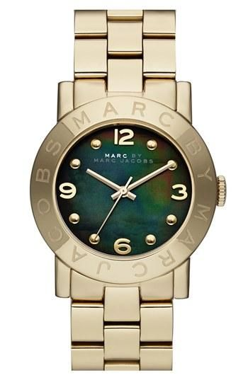 Marc by Marc Jacobs Mother of Pearl Watch. The face on this is awesome- really unique