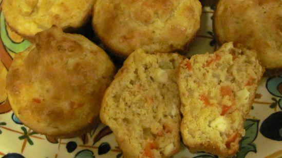 Savory Red Pepper Feta Muffins