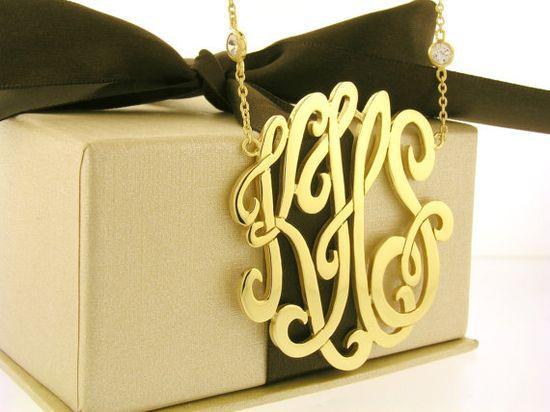 Monogram necklace..want!