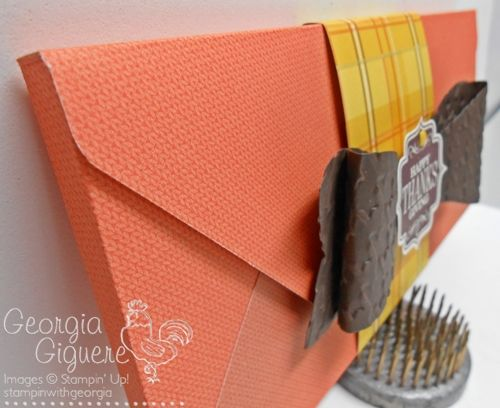 DIY gift packaging for chocolate bar. . . side view!