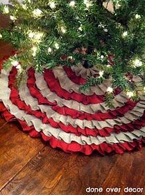 DIY no sew ruffle tree skirt