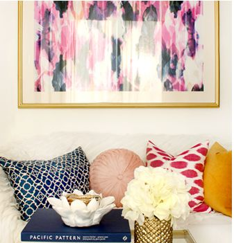 Love the mismatched pillows